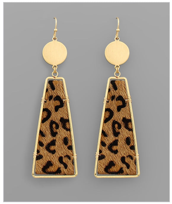 Cheetah Girl Earrings - Camel