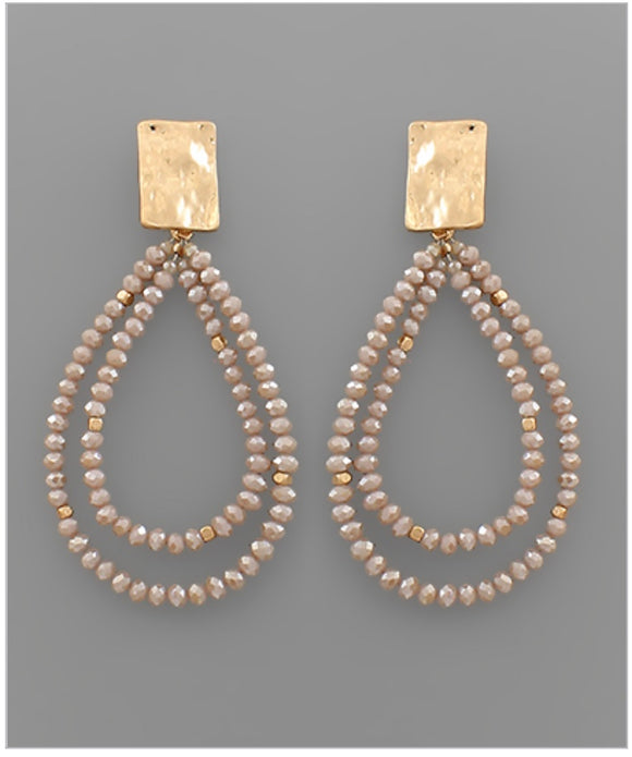 Sadie Earrings - Taupe