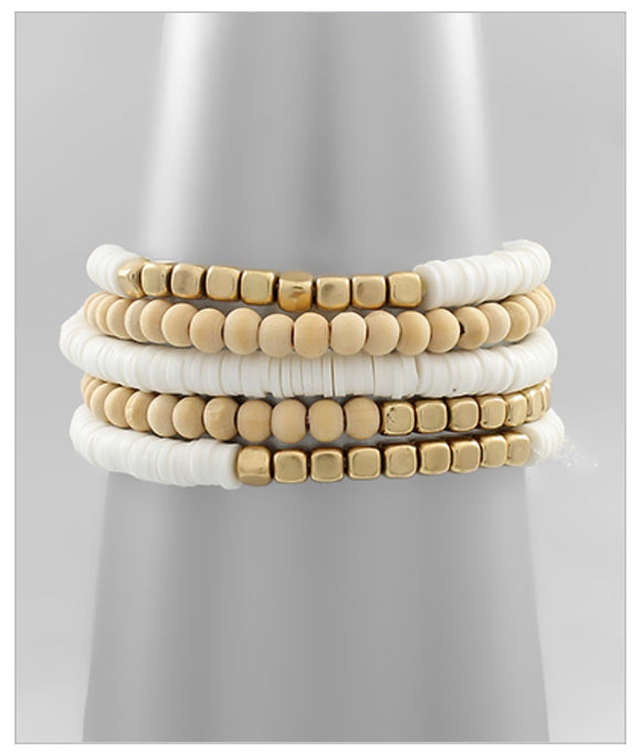 Carmen Bracelet Set - White