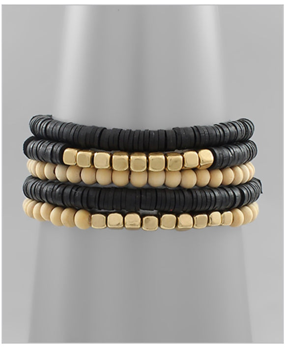 Carmen Bracelet Set - Black