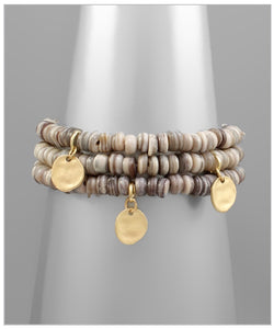 Collins Bracelet Set - Gray