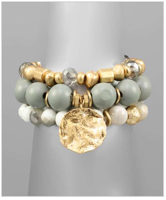 Sienna Bracelet Set - Gray