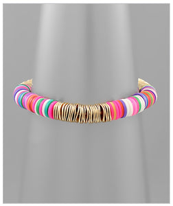 Dakota Stretch Bracelet - Pink