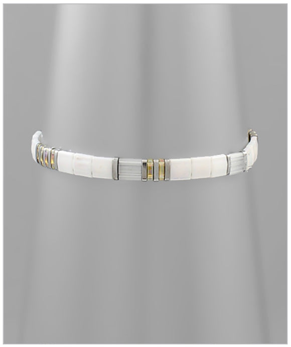 Bali Stretch Bracelet - White