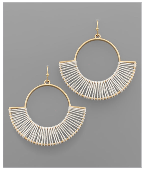 Emery Earrings - White