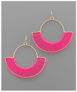 Emery Earrings - Pink