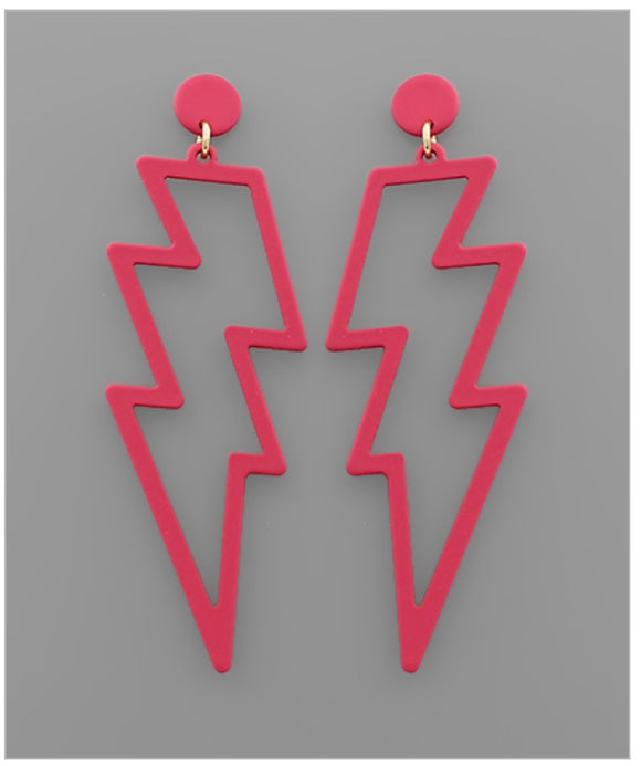 Shazam Earrings - Pink