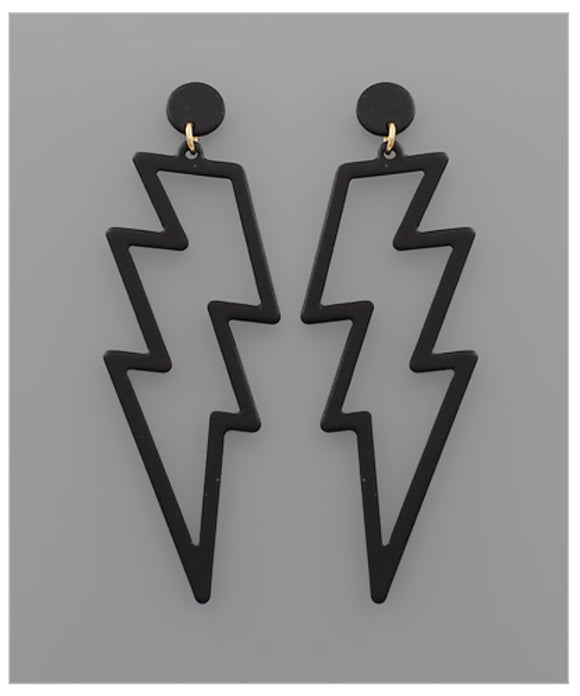Shazam Earrings - Black