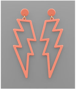 Shazam Earrings - Coral
