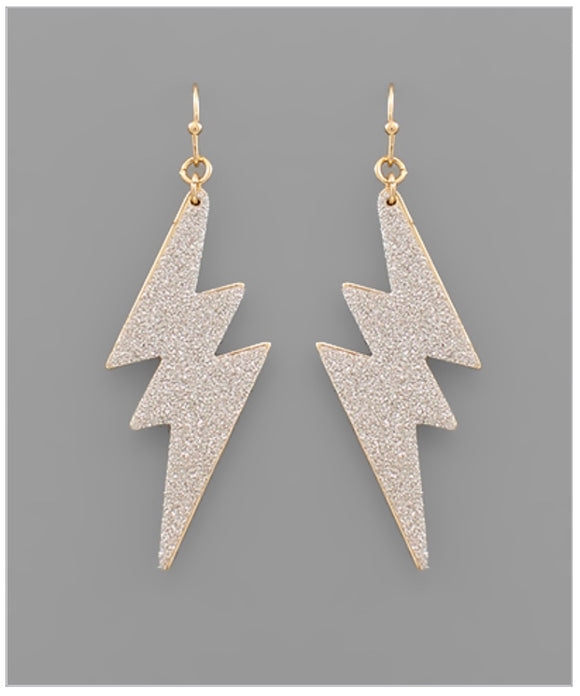 Joplin Earrings - Silver Glitter