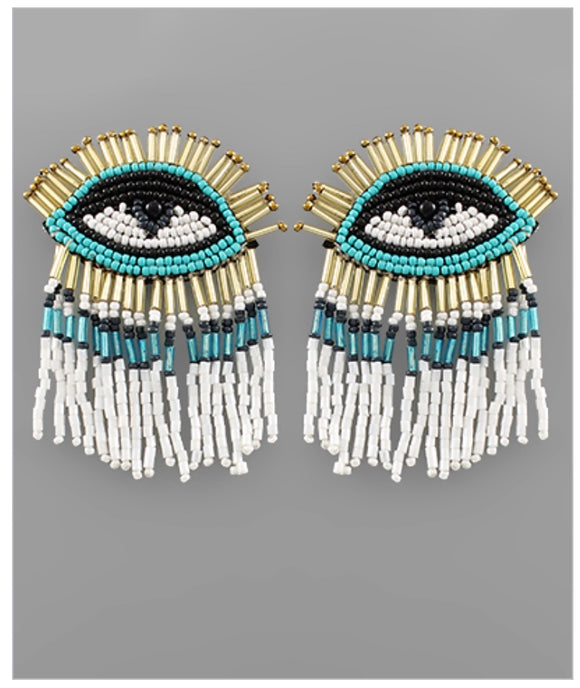 Eye Catcher Earrings - White