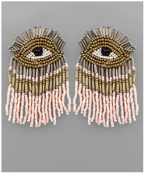 Eye Catcher Earrings - Blush