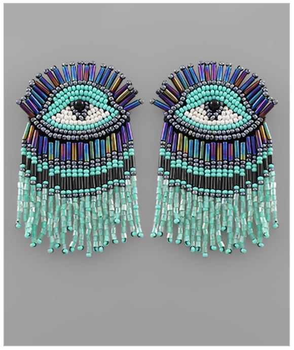 Eye Catcher Earrings - Turquoise