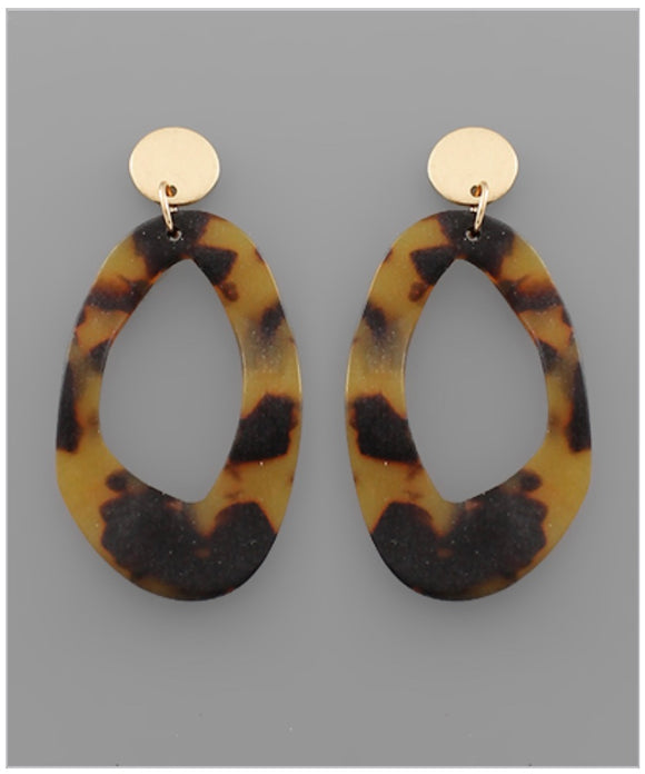 Sidney Earrings - Brown Tortoise