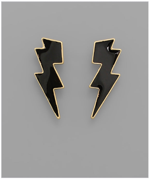 Stormi Earrings  - Black