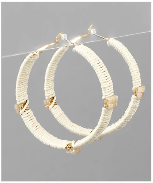 Madison Hoop Earrings - Ivory