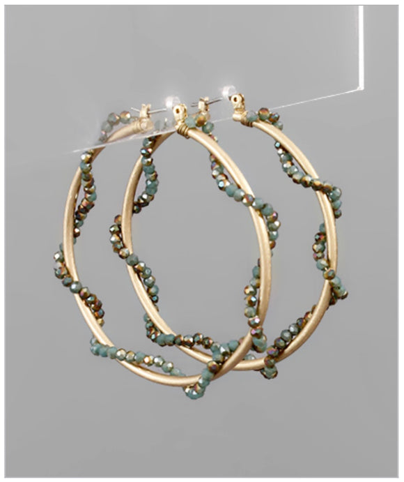 Lulu Hoop Earrings - Green