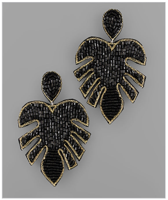 Palm Springs Earrings - Black