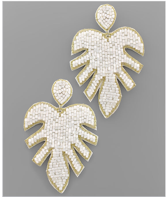 Palm Springs Earrings - White