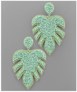 Palm Springs Earrings - Mint