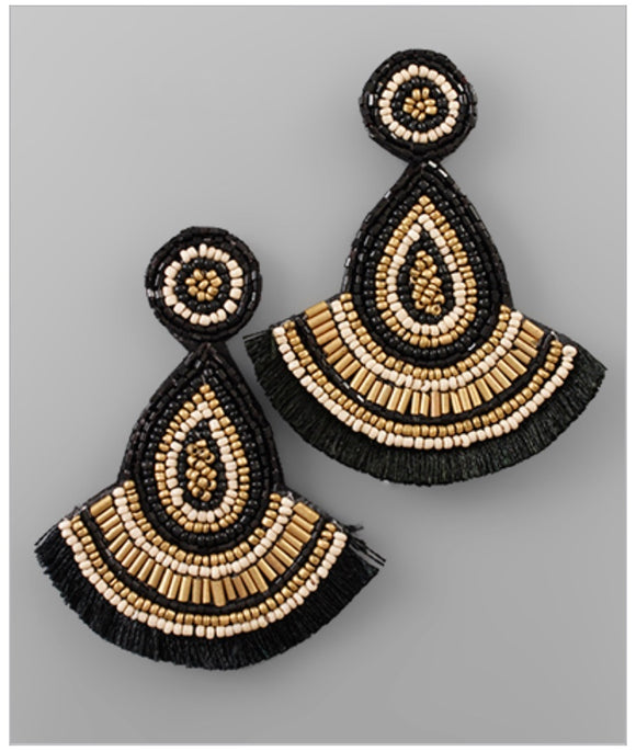 Ashford Statement Earrings - Black