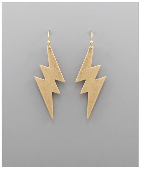 Dylan Earrings - Matte Gold