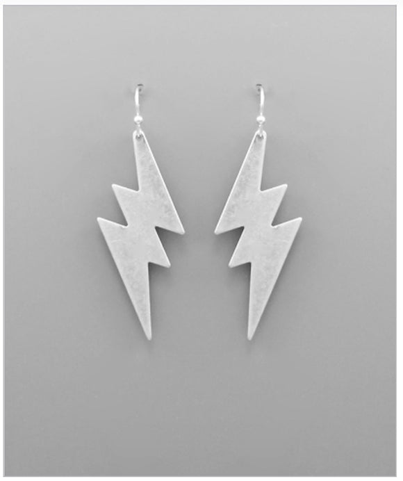 Dylan Earrings - Matte Silver