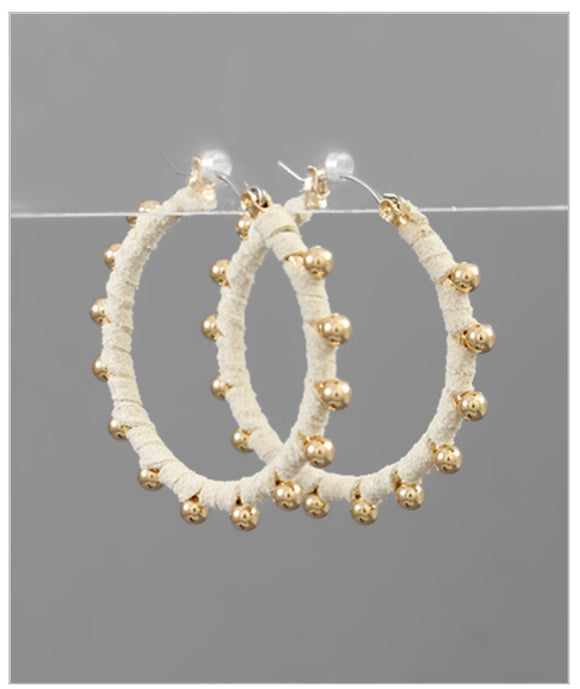 Bella Hoop Earrings - Ivory