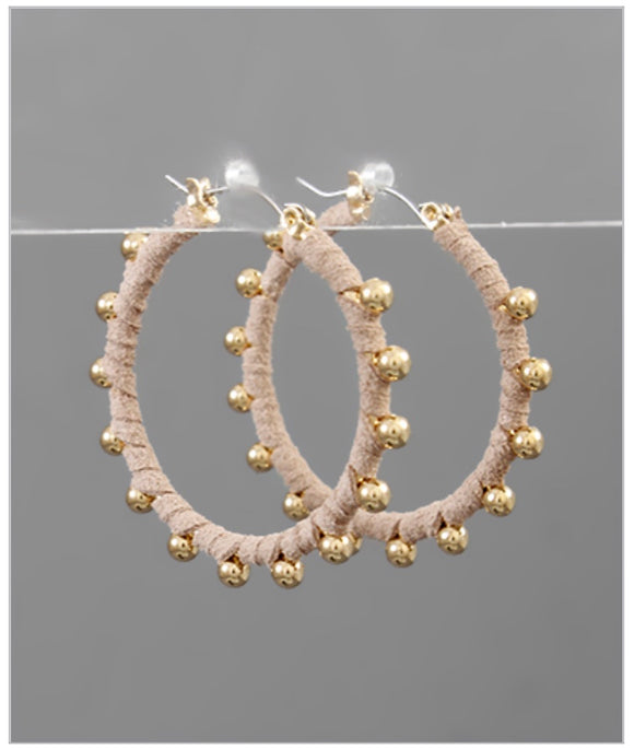 Bella Hoop Earrings - Blush