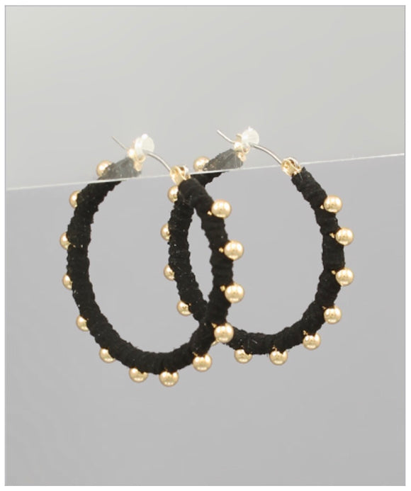 Bella Hoop Earrings - Black