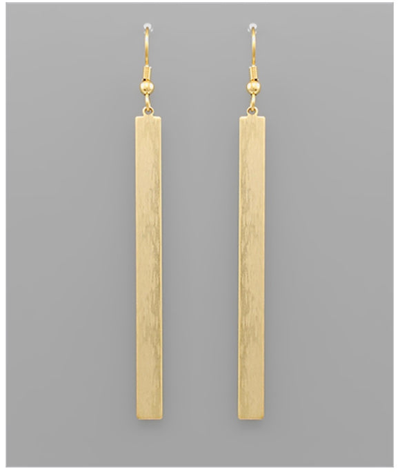 Tatum Bar Earrings - Matte Gold