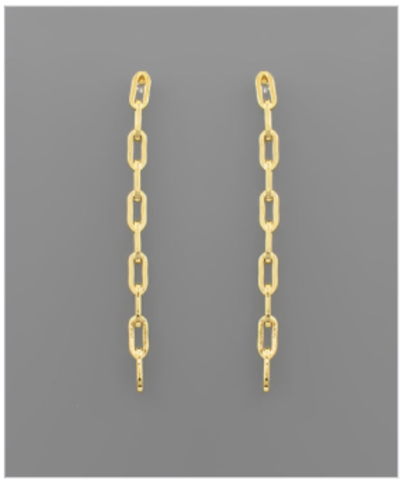 Milan Link Earrings - 14k Gold Dipped