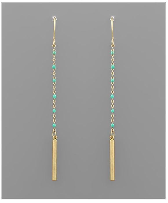 Reagan Earrings -Turquoise