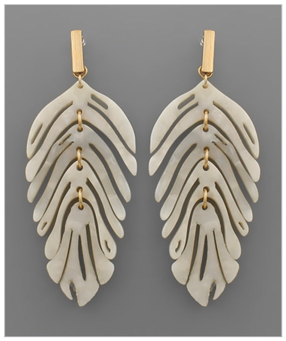 Finley Earrings - White