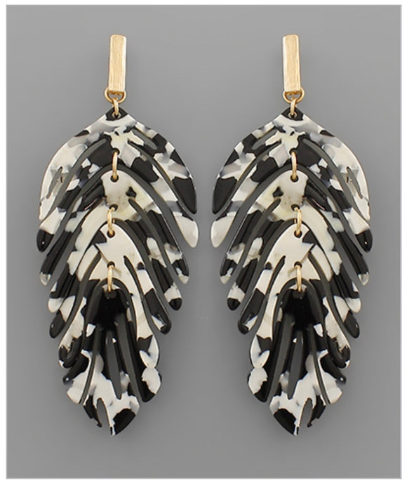 Finley Earrings - Black/White