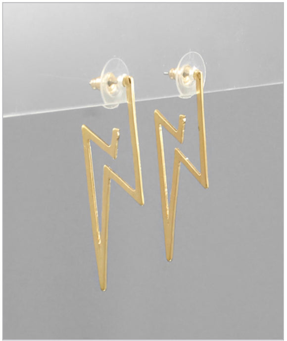 Open Strike Earrings - Gold