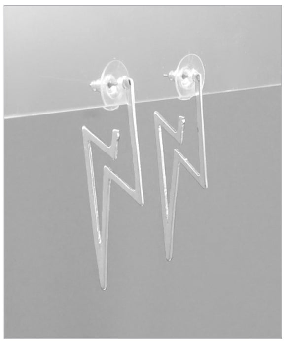 Open Strike Earrings - Silver