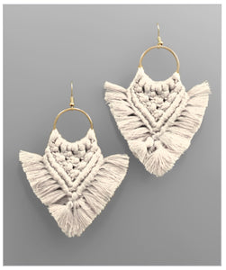 Indie Earrings - Ivory