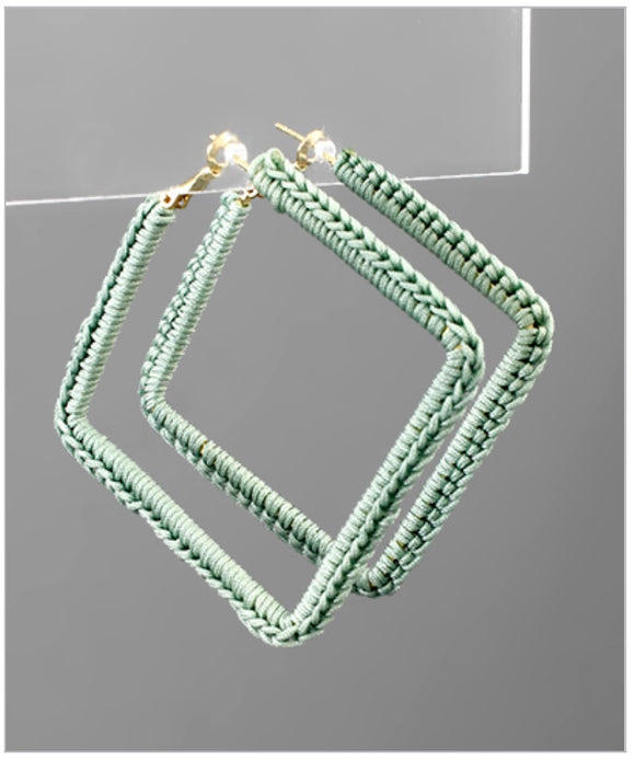 Vivian Hoop Earrings - Mint