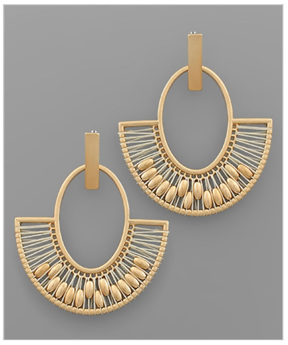 Carley Earrings - Ivory