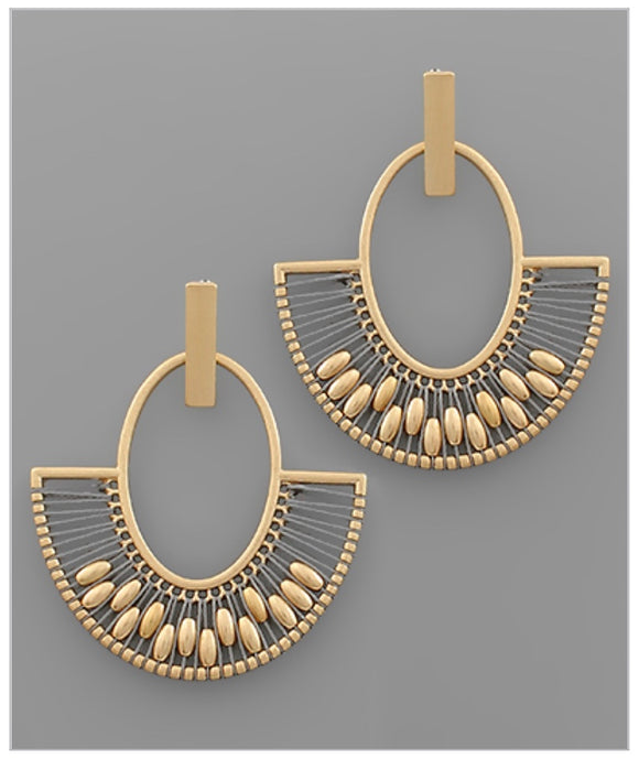 Carley Earrings - Gray