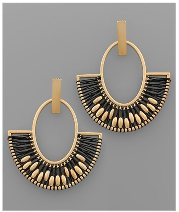 Carley Earrings - Black