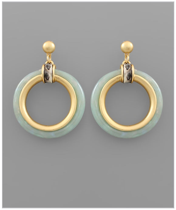 Paige Earrings - Mint
