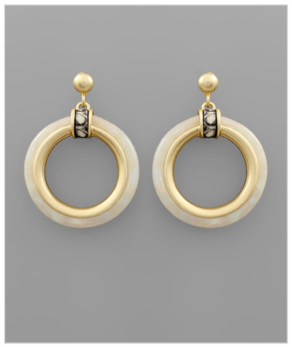 Paige Earrings - Ivory