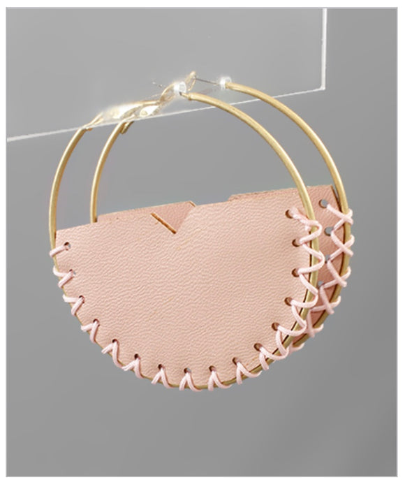 Laney Hoop Earrings - Blush