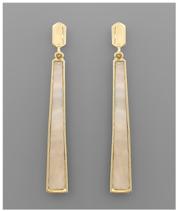 Quinn Earrings - Mother of Pearl