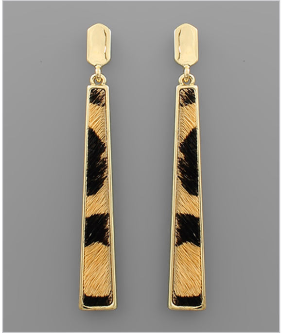 Quinn Earrings - Leopard