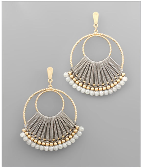 Adele Earrings - Gray