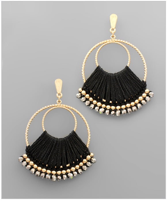 Adele Earrings - Black