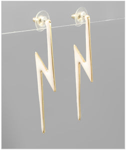 Lizzy Earrings - White